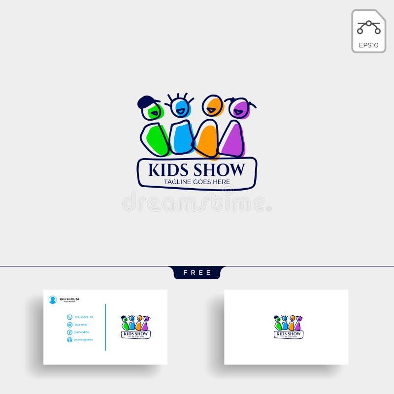 dziecko bawić się grupy edukacji logo szablonu ilustracja ilustracja wektor