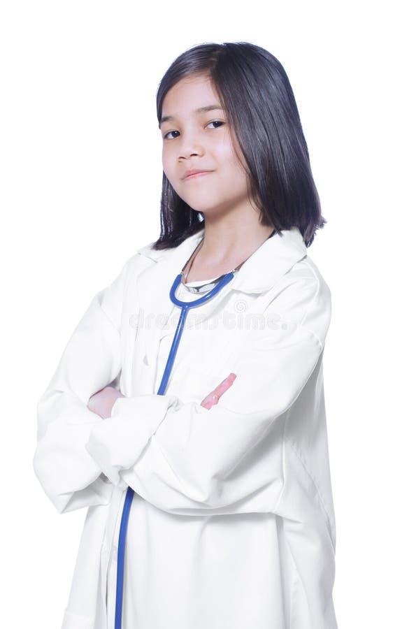 Dziecko bawić się lekarkę obraz stock