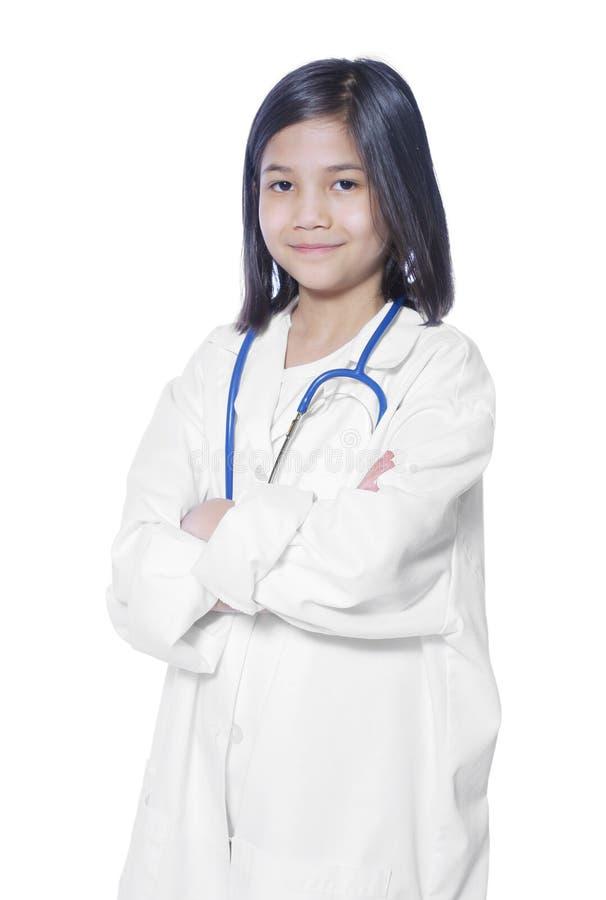 Dziecko bawić się lekarkę obrazy stock