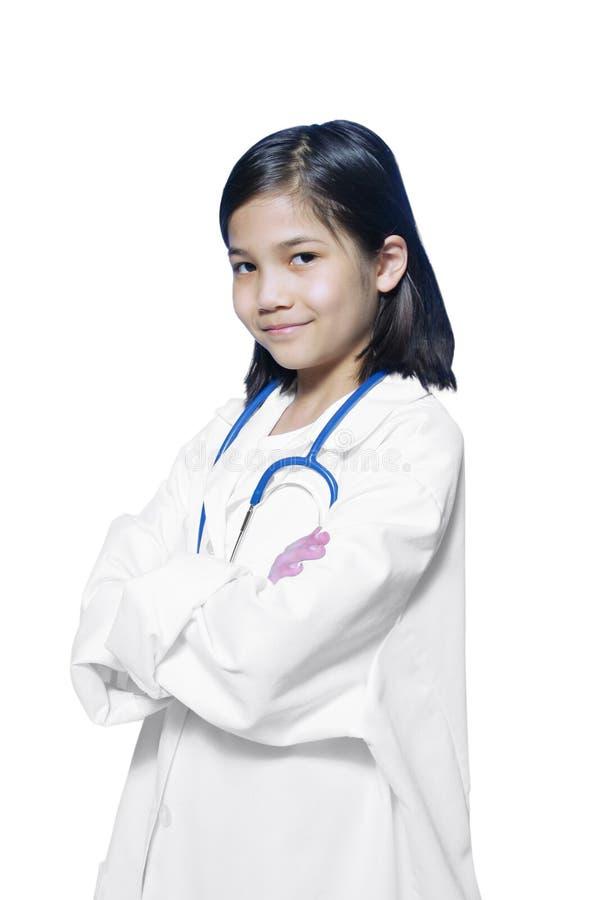 Dziecko bawić się lekarkę obrazy royalty free
