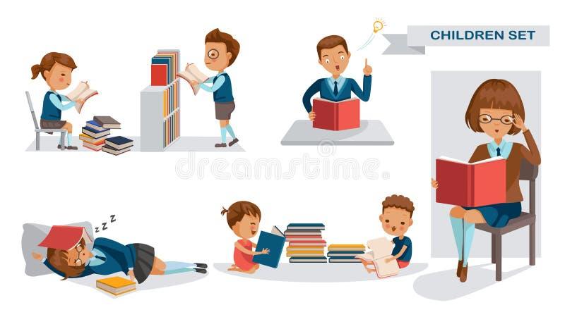 Dziecko biblioteka ilustracji