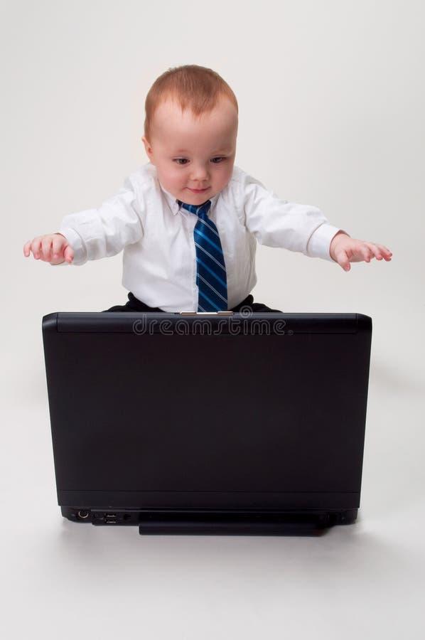 dziecko biznesmen excited zdjęcie royalty free
