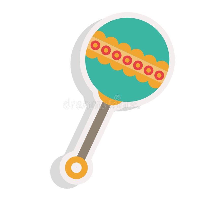 Dziecko brzęku ikona ilustracji