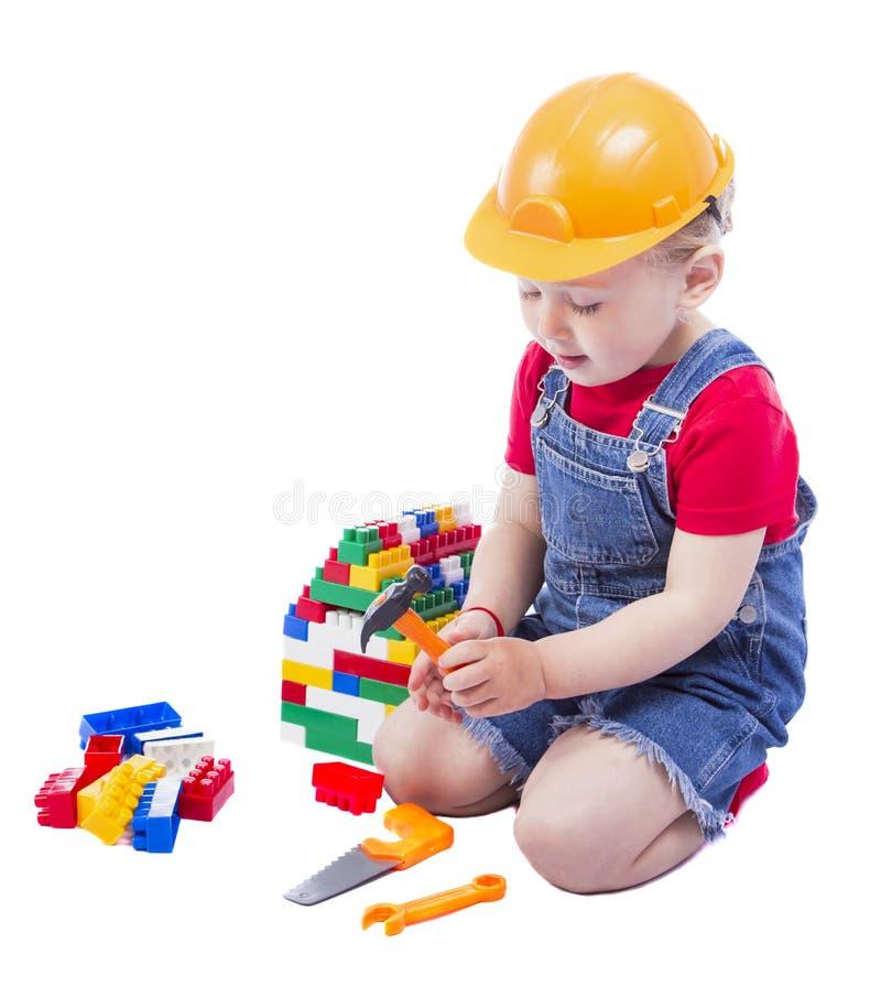 Dziecko budowniczy zdjęcie stock