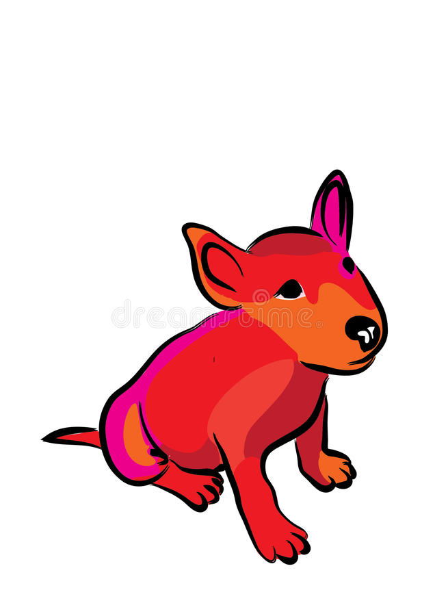 Dziecko Bull terrier coloured obraz stock