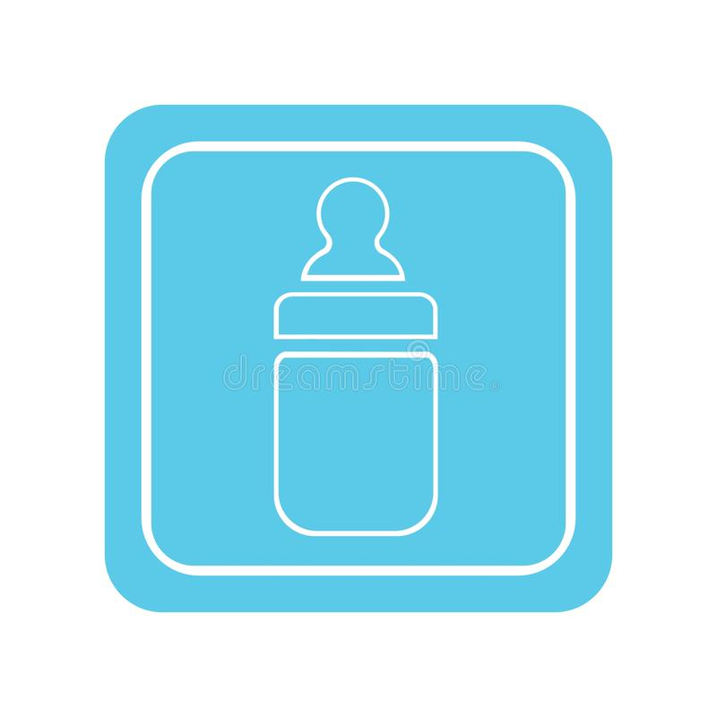 Dziecko butelka royalty ilustracja