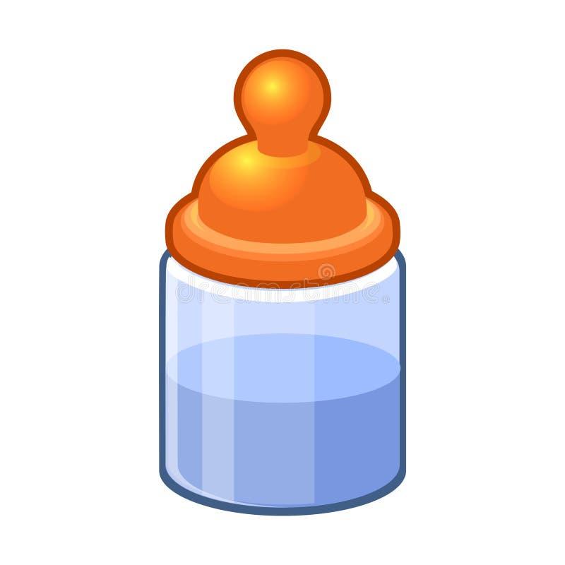 Dziecko butelka z wodą lub mlekiem ilustracja wektor