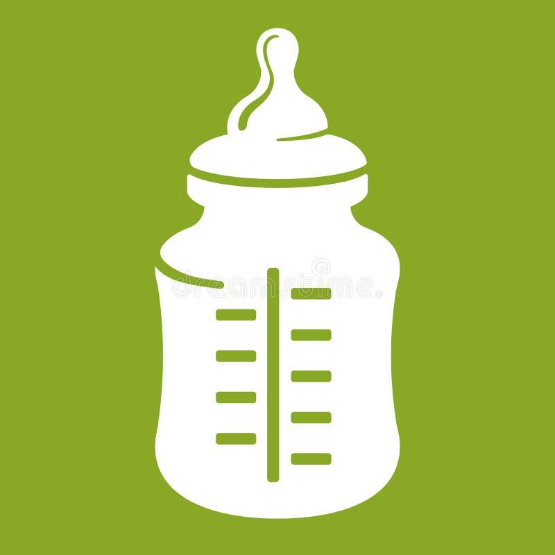 Dziecko butelki ikona odizolowywająca na zielonym tle Realistyczna wektorowa ilustracja ilustracja wektor