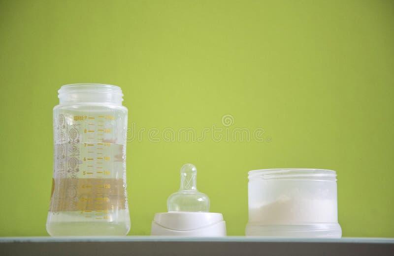 Dziecko butelki kawałki fotografia stock