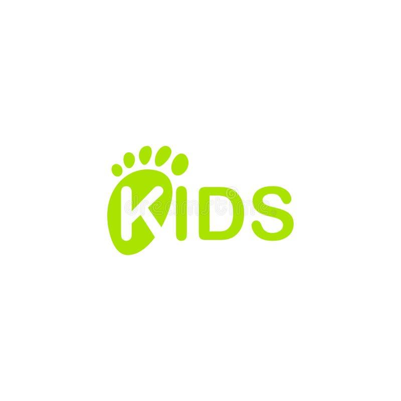Dziecko cieków wektoru ikona Odosobniony Nowonarodzony Nożny druk Dzieciaka odcisku stopy ilustracja na pustym tle royalty ilustracja