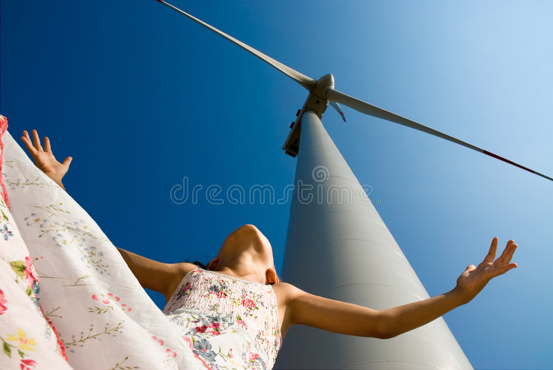 dziecko czystej energii jest przyszłość obraz royalty free