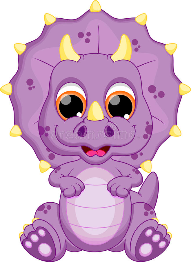 Dziecko dinosaura kreskówka ilustracji