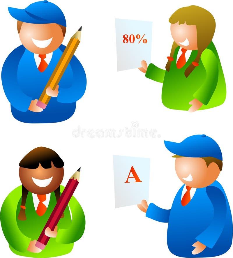 dziecko do szkoły royalty ilustracja
