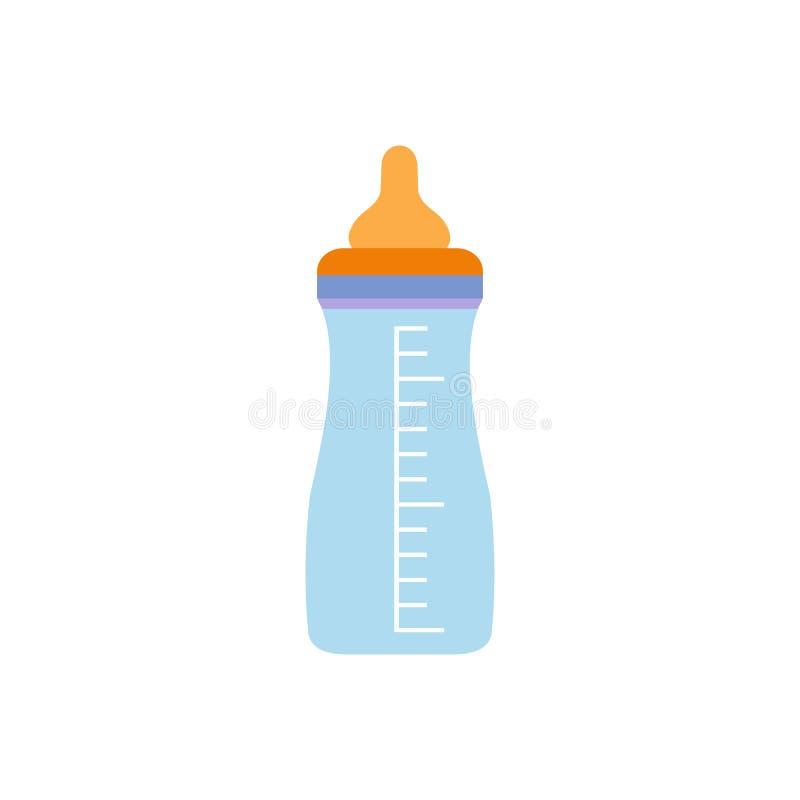 Dziecko dojnej butelki mieszkania ikona ilustracja wektor