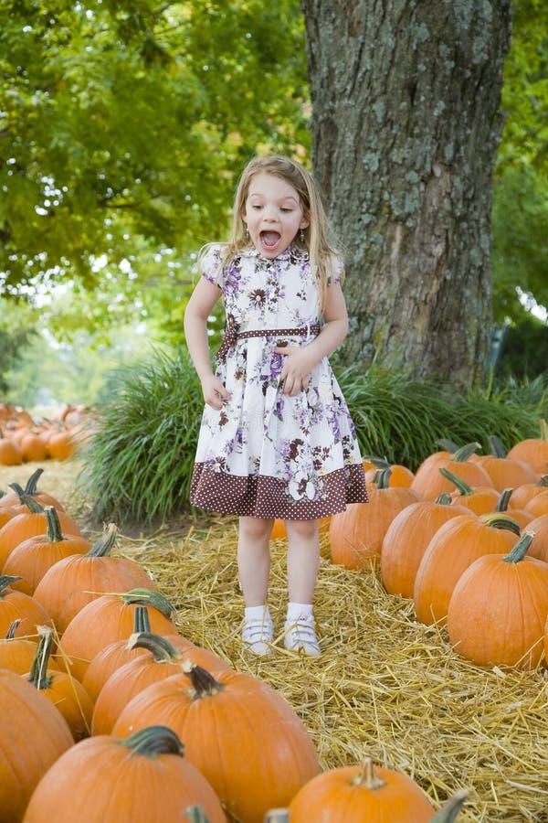 dziecko dynie Halloween. zdjęcie royalty free