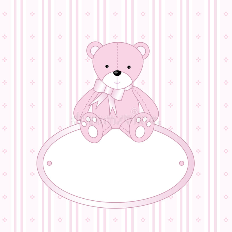 dziecko dziewczyny teddy bear ilustracji