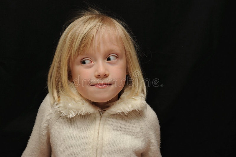 dziecko ekspresyjny portret zdjęcie stock