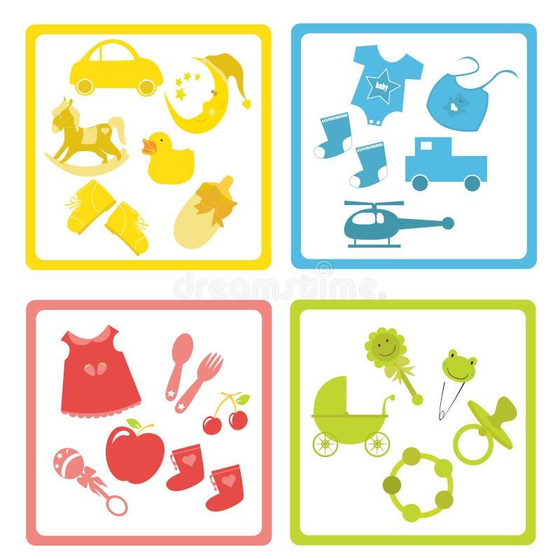 dziecko elementy ilustracja wektor