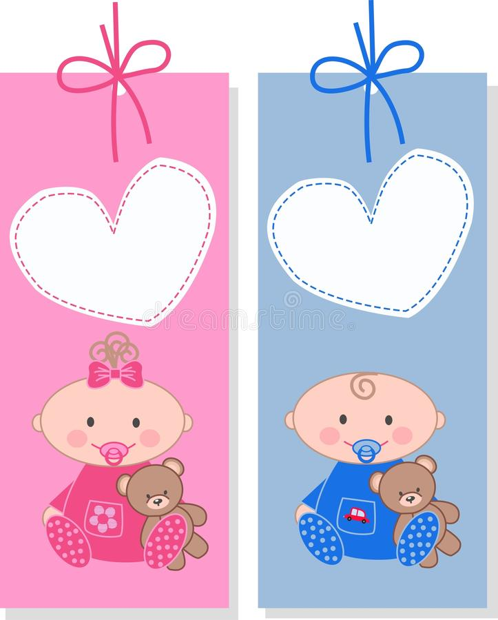 dziecko etykietki ilustracji