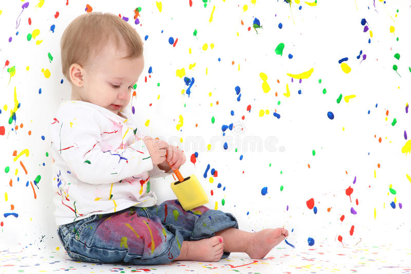 dziecko farba fotografia stock