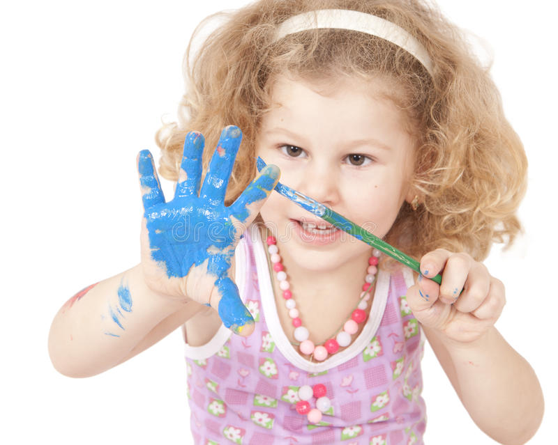 dziecko farba obrazy royalty free