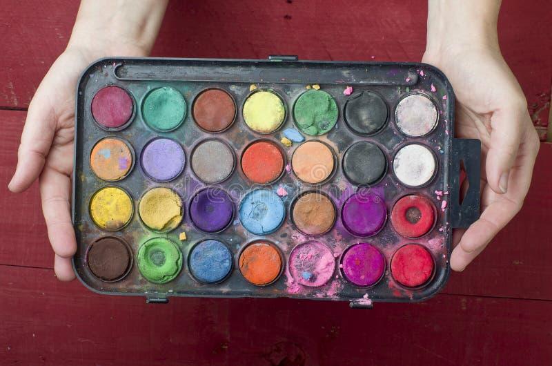 dziecko farby obrazy stock