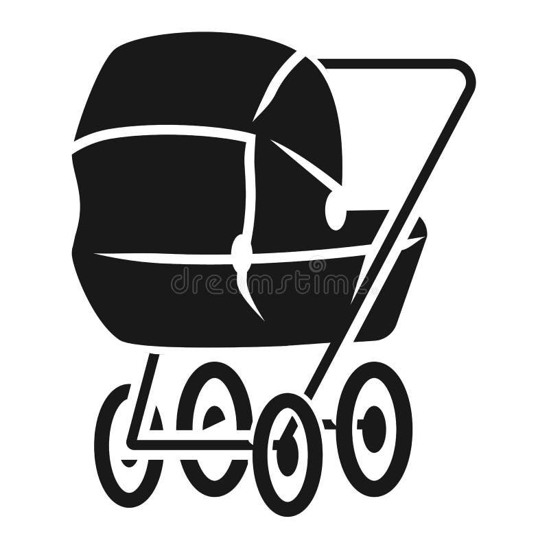 Dziecko fracht w perspektywicznej ikonie, prosty styl ilustracja wektor