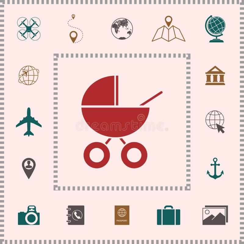 Dziecko frachtu ikona ilustracja wektor