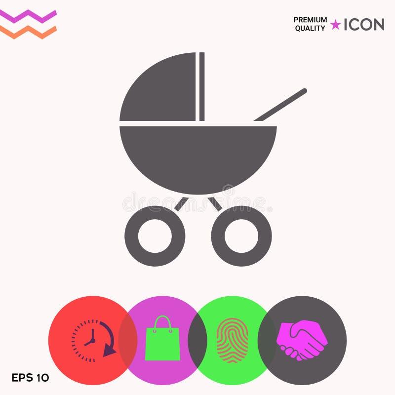 Dziecko frachtu ikona royalty ilustracja