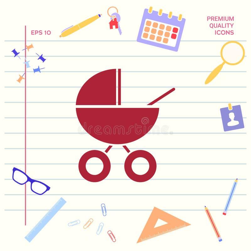 Dziecko frachtu ikona ilustracji