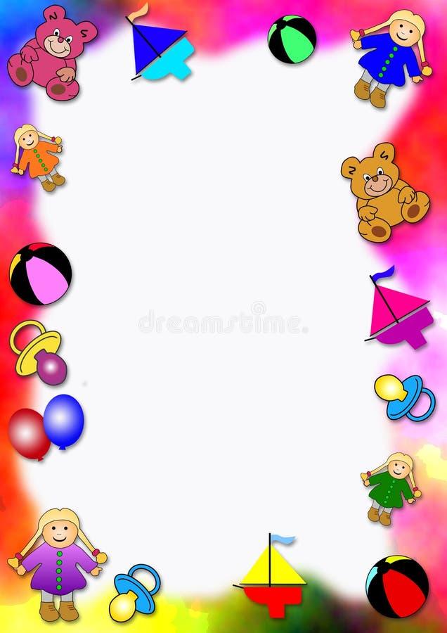dziecko granice kolorowe zabawki royalty ilustracja