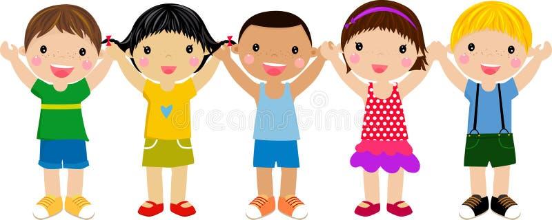 dziecko grupa ilustracji