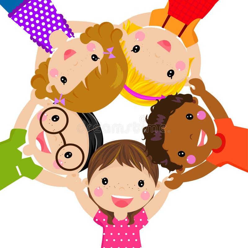 dziecko grupa royalty ilustracja