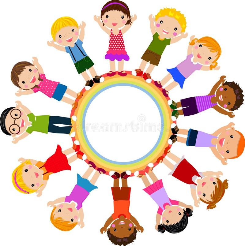 dziecko grupa ilustracja wektor