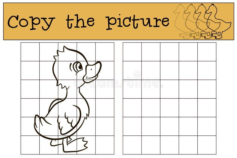 Dziecko gry: Kopiuje obrazek trochę śliczny kaczątko ilustracja wektor