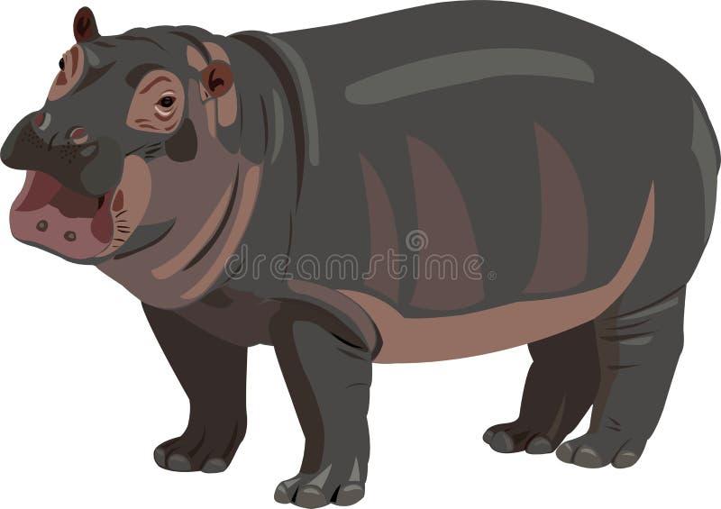 dziecko hipopotam royalty ilustracja