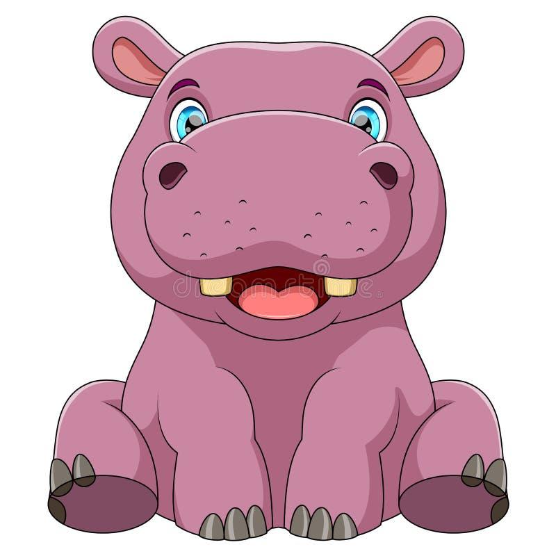 dziecko hipopotam ilustracja wektor