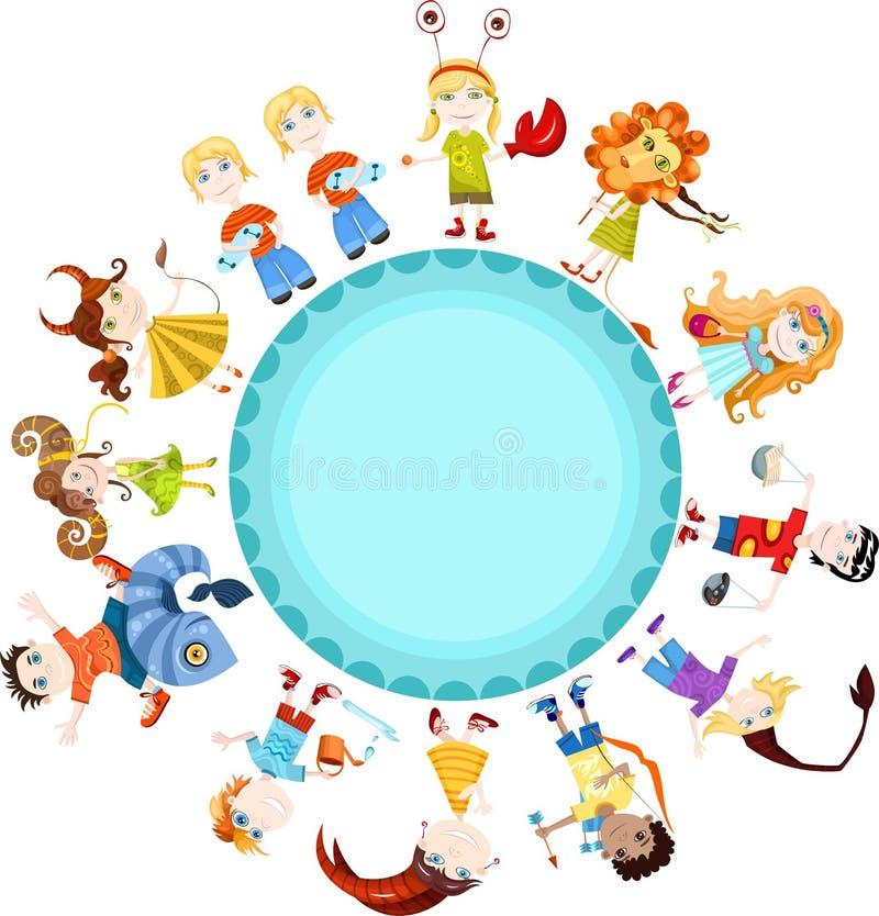 dziecko horoskop ilustracja wektor