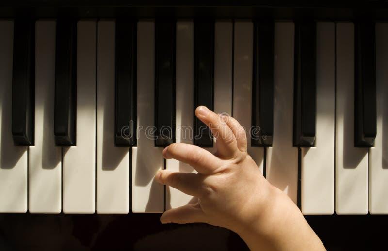 Dziecko i muzyka obrazy stock