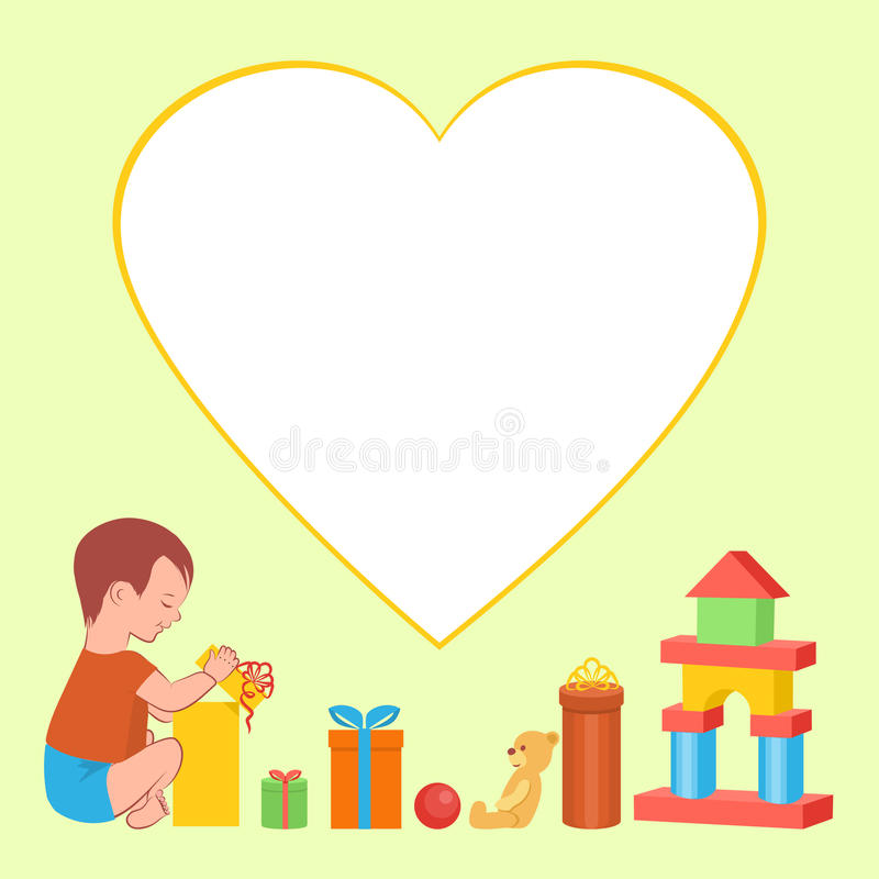 Dziecko i prezenty zdjęcia royalty free
