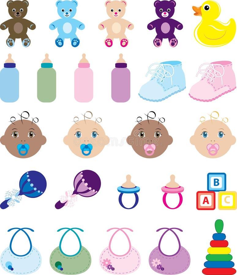Download Dziecko ikony ilustracja wektor. Ilustracja złożonej z złotko - 13337876