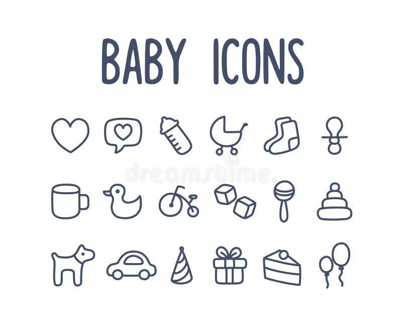 Dziecko ikony ilustracji