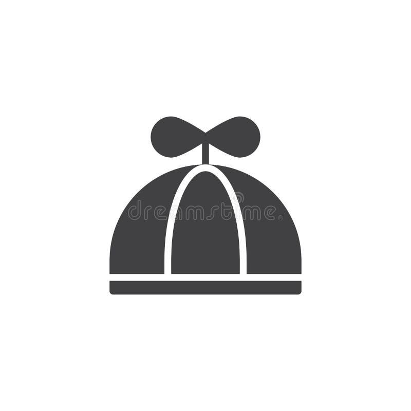 Dziecko ikony kapeluszowy wektor royalty ilustracja