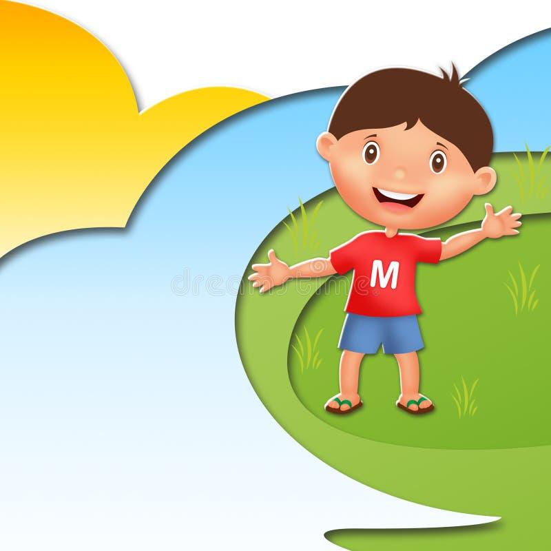 Dziecko ilustraci charakter zdjęcia royalty free