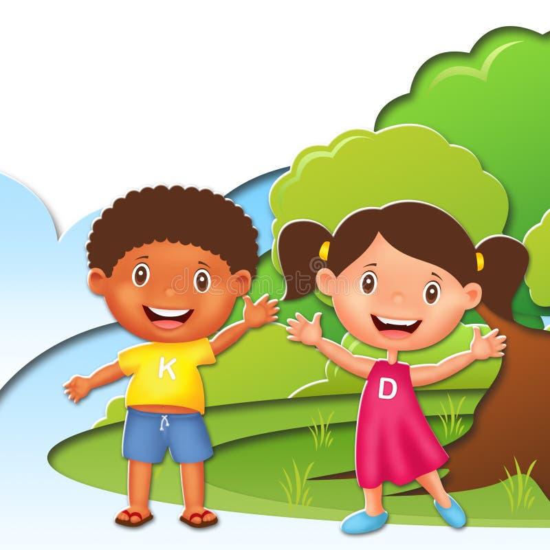 Dziecko ilustraci charakter fotografia royalty free