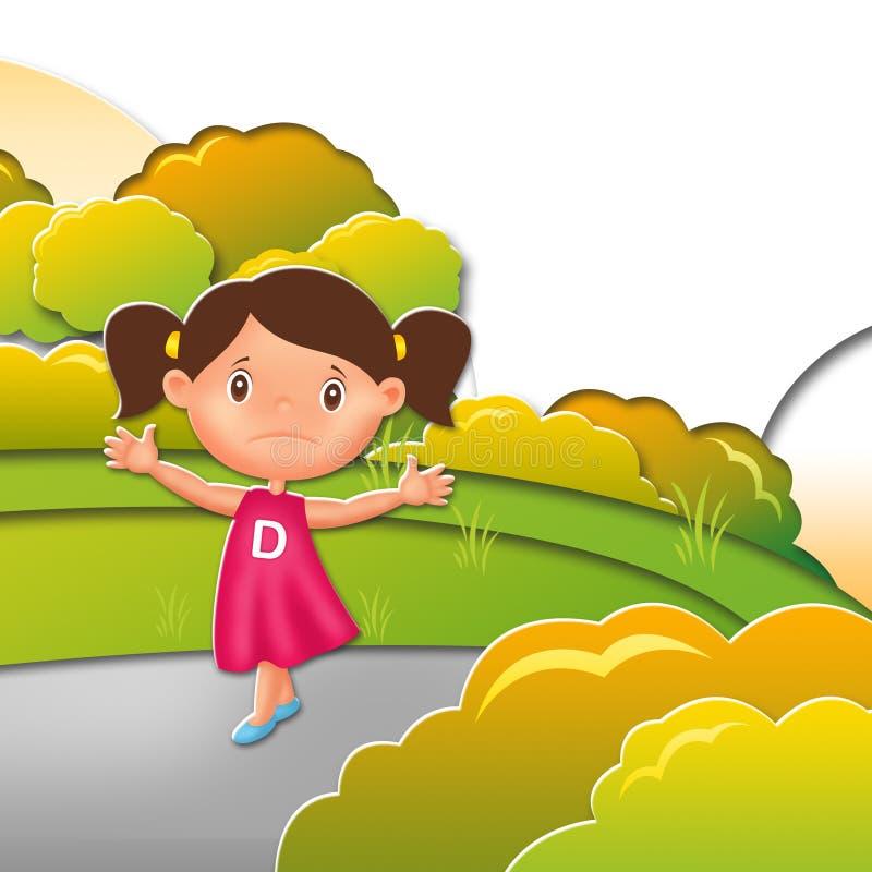 Dziecko ilustraci charakter obrazy royalty free