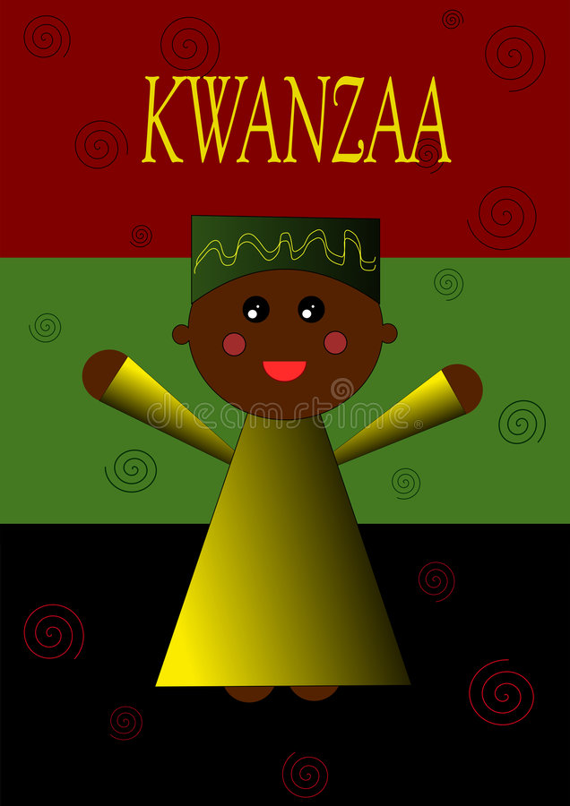 dziecko ilustracja Kwanzaa ilustracja wektor
