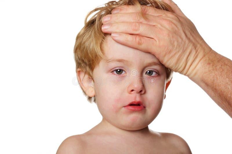 dziecko jest chore obrazy royalty free