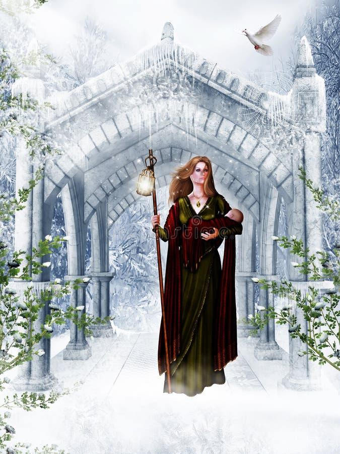 dziecko Jesus royalty ilustracja