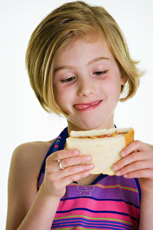 dziecko kanapka fotografia royalty free